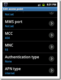 vodafone mobile connect settings